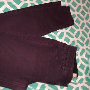 Maroon Rewind Jeans
